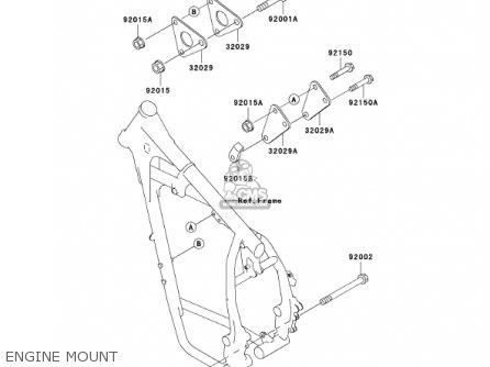 kawasaki kl650a16 klr650 2002 usa california canada parts lists and KLX 650 Wiring Diagram kawasaki kl650a16 klr650 2002 usa california canada engine mount