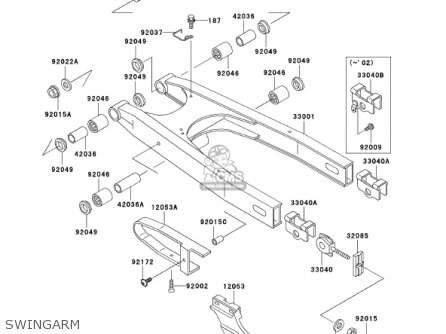 kawasaki kl650a16 klr650 2002 usa california canada parts lists and 2013 Suzuki 650 Wiring Diagram kawasaki kl650a16 klr650 2002 usa california canada swingarm