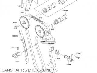 kawasaki kl650a19 klr650 2005 usa california canada parts lists and Camo KLR 650 camshaft s tensioner
