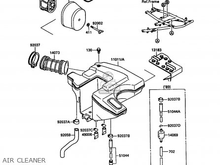 Kawasaki Kl650a3 Klr650 1989 Europe Uk Gr Nr Sd Parts Lists And