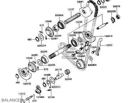 Kawasaki Kl650a3 Klr650 1989 Usa California Canada Balancer