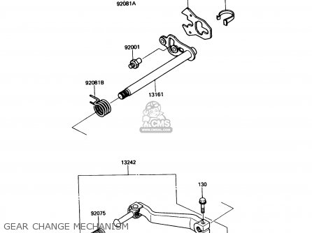 Kawasaki Kl650a3 Klr650 1989 Usa California Canada Gear Change Mechanism