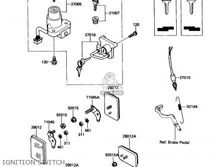 Kawasaki Kl650a3 Klr650 1989 Usa California Canada Ignition Switch