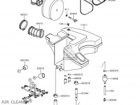 Kawasaki Kl650c4 Klr650 1998 United Kingdom Fg Parts Lists And
