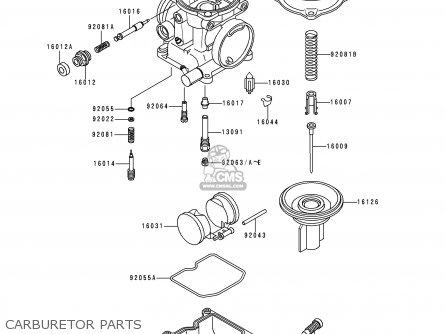 Kawasaki Kle250-a3 1997 Greece Carburetor Parts