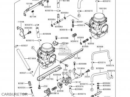 Kawasaki Kle250-a3 1997 Greece Carburetor