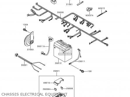 Kawasaki Kle250-a3 1997 Greece Chassis Electrical Equipment