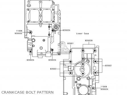 Kawasaki Kle250-a3 1997 Greece Crankcase Bolt Pattern