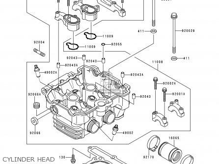 Kawasaki Kle250-a3 1997 Greece Cylinder Head