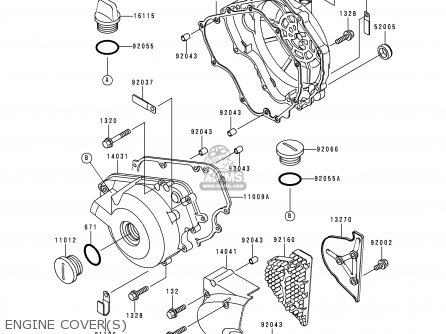 Kawasaki Kle250-a3 1997 Greece Engine Covers