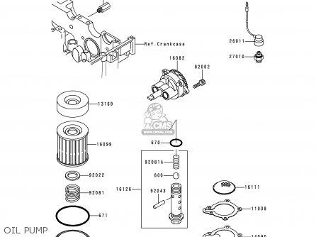 Kawasaki Kle250-a3 1997 Greece Oil Pump