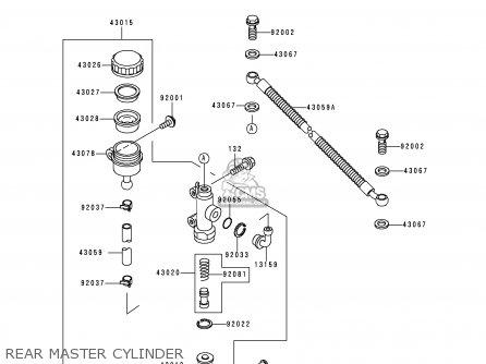 Kawasaki Kle250-a3 1997 Greece Rear Master Cylinder