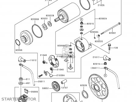 Kawasaki Kle250-a3 1997 Greece Starter Motor