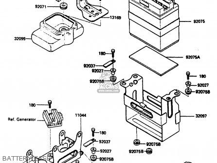 Kawasaki Klf185-a1 Bayou185 1985 Battery Case