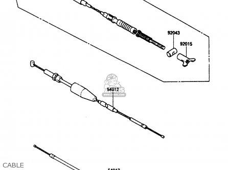 Kawasaki Klf185-a1 Bayou185 1985 Cable