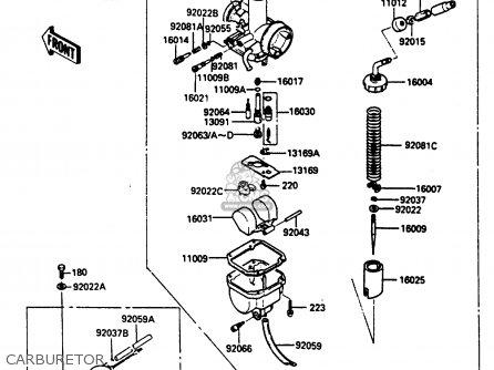 Kawasaki Klf185-a1 Bayou185 1985 Carburetor