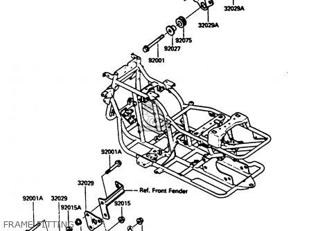 Kawasaki Klf185-a1 Bayou185 1985 Frame Fitting