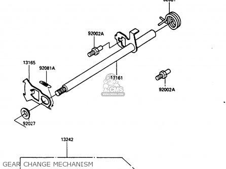 Kawasaki Klf185-a1 Bayou185 1985 Gear Change Mechanism
