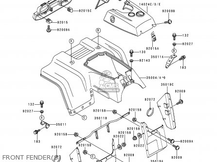 Kawasaki Bayou Front Axle Schematics