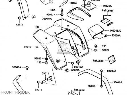 Kawasaki Bayou 300 Parts Diagram