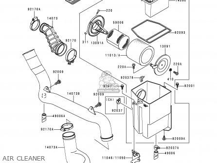 Kawasaki Klf300 C10 Bayou3004x4 1998 Usa California Canada Parts