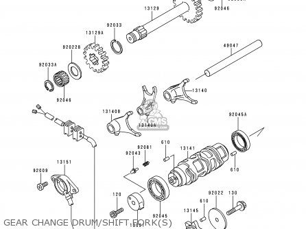 Kawasaki 1990 C2 Klf300 Electrical Equipment Schematic Partsfiche