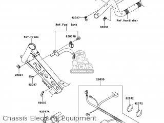 Kawasaki KLX110-A8F 2008 USA parts lists and schematics on