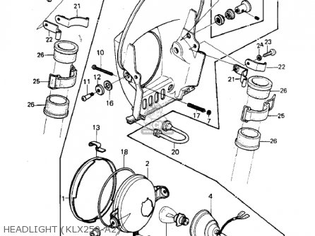Kawasaki Klx250 Klx 250 Electrical Wiring Harness Diagram Schematic