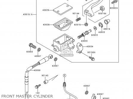 Kawasaki 110 Dirt Bike Parts Diagram