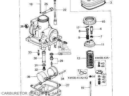 Kawasaki Km100-a4 1979 Usa Canada   Mph Kph Carburetor km100-a1-a4
