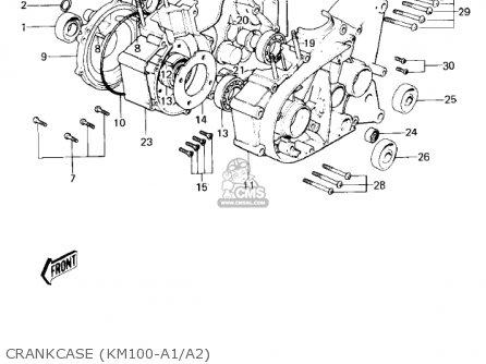 Kawasaki Km100-a4 1979 Usa Canada   Mph Kph Crankcase km100-a1 a2