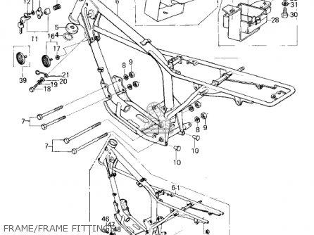 Kawasaki Km100-a4 1979 Usa Canada   Mph Kph Frame frame Fittings