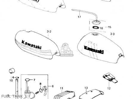 Kawasaki Km100-a4 1979 Usa Canada   Mph Kph Fuel Tank