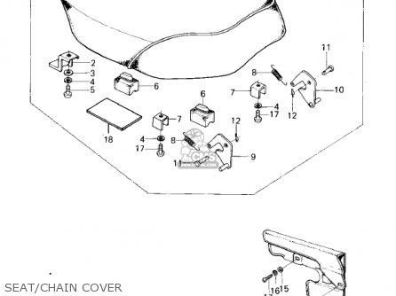 Kawasaki Km100-a4 1979 Usa Canada   Mph Kph Seat chain Cover