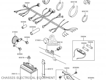 kawasaki kmx125-a13 2000 mexico parts list partsmanual ... kawasaki kmx 125 wiring diagram