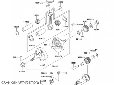 crankshaft/piston(s)