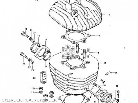 kawasaki kt250-a2 trial 1976 usa / mph parts lists and schematics  cmsnl.com