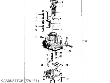 Kawasaki Kv100-a7 1976 Usa California Carburetor 70-73