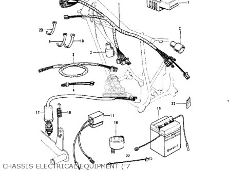 Kawasaki Kv100-a7 1976 Usa California Chassis Electrical Equipment 7