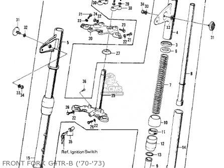 Kawasaki Kv100-a7 1976 Usa California Front Fork G4tr-b 70-73