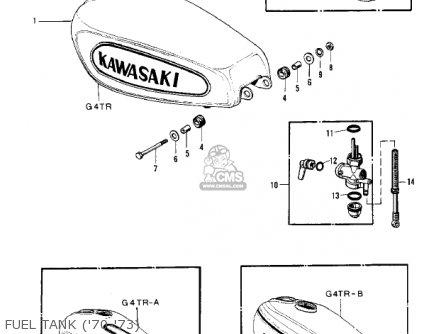 Kawasaki Kv100-a7 1976 Usa California Fuel Tank 70-73