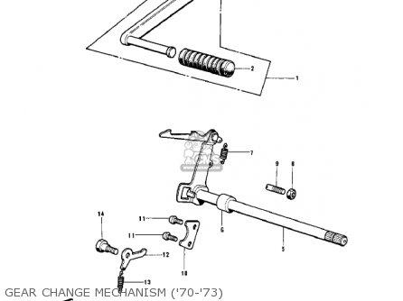 Kawasaki Kv100-a7 1976 Usa California Gear Change Mechanism 70-73