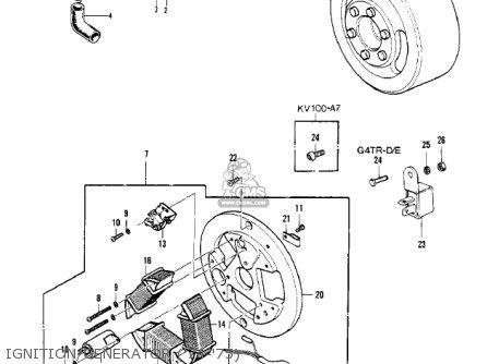 Kawasaki Kv100-a7 1976 Usa California Ignition generator 74-75
