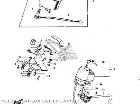 Kawasaki Kv100-a7 1976 Usa California Meters ignition Switch G4tr-c
