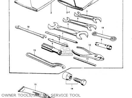 Kawasaki Kv100-a7 1976 Usa California Owner Tools special Service Tool