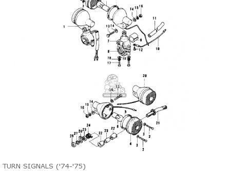 Kawasaki Kv100-a7 1976 Usa California Turn Signals 74-75
