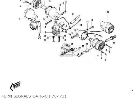 Kawasaki Kv100-a7 1976 Usa California Turn Signals G4tr-c 70-73