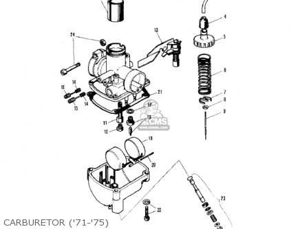 Kawasaki Kv75a5 1976 Carburetor 71-75