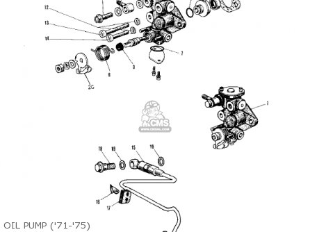 Kawasaki Kv75a5 1976 Oil Pump 71-75