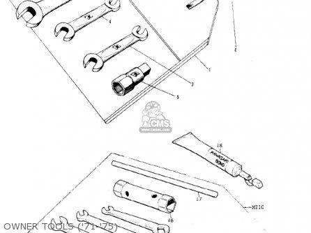 Kawasaki Kv75a5 1976 Owner Tools 71-75